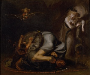"Henry Fuseli - Scene of Witches from ""The Masque of Queens"" by Ben Jonson"