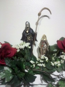 Santa Muerte Statues from Mexico City, Mexico, Image copyright 2012 Winter Tempest Books. All rights reserved.
