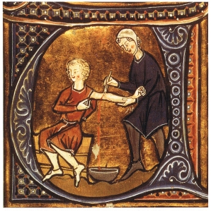 Bloodletting: An early, dangerous and unnecessary allopathic practice.