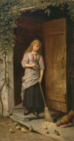 Girl_with_Broom_in_Doorway_Champney_1882