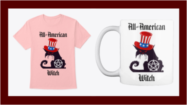 All-American Witch, Shirts, Mugs, and Gifts